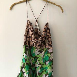 Diane Von Furstenberg camisol with mixed prints